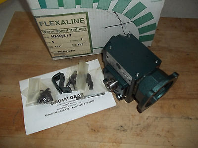 NEW GROVE GEAR FLEXALINE HMQ213-1 WORM GEAR SPEED REDUCER RATIO 5:1 / HP: 1.058