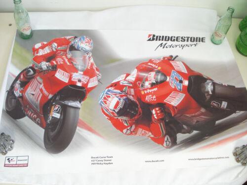 "Art Print Poster DUCATI Motorcycle Bridgestone Motorsport 36"" x 24"""
