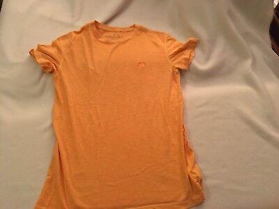 American Classic Orange Light - American Eagle Legend T Classic Fit S/P light orange burnout knit crewneck NWOT