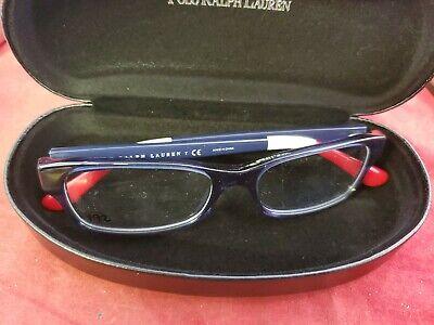 NEW POLO RALPH LAUREN PH2147 5573 Glosdy Red White Blue Eyeglasses 52/16/140