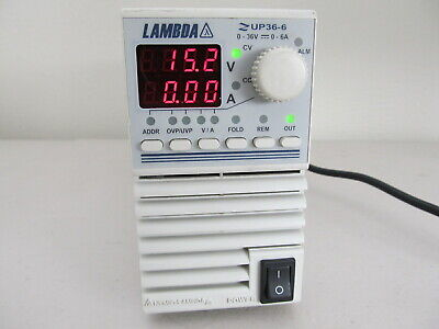 Lambda Regulated Dc Power Supply Zup36-6 036v 06a Tested Working