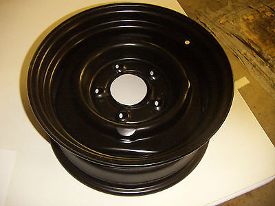 1988 DODGE RAM TRUCK RIM OEM BLACK REPAINTED BY PROFESSIONALLY DONE