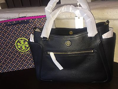 TORY BURCH FRANCES LARGE SATCHEL BLACK NWT $525 & GIFT BAG 11159791-SOLD OUT