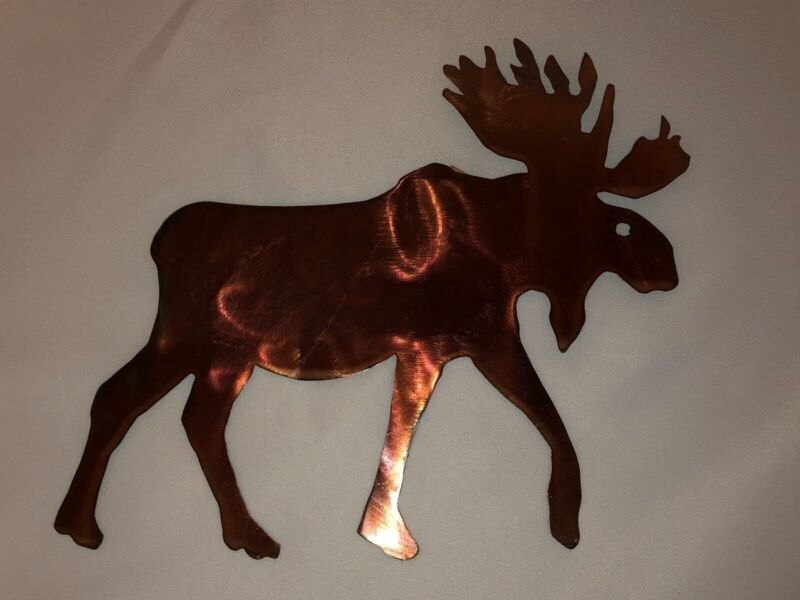 MOOSE Steel Powder Coated Hanging Decoration NEW Made in USA