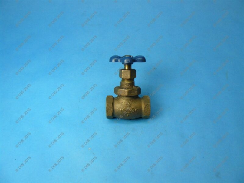 """Nibco 66 Stop Valve w/ Drain 1/2"""" Threaded Connections 150 WOG"""