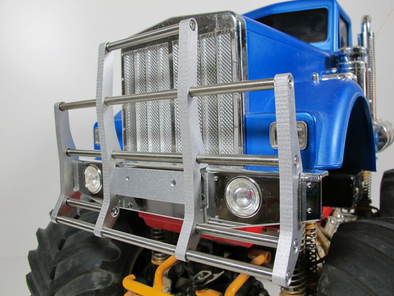Custom Aluminum Animal Bumper Guard for Tamiya 1/10 BullHead Bull head Truck