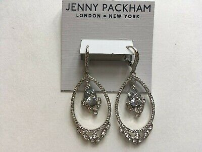 Jenny Packham Earrings $75 Silver Tone New Over Stock With Tags