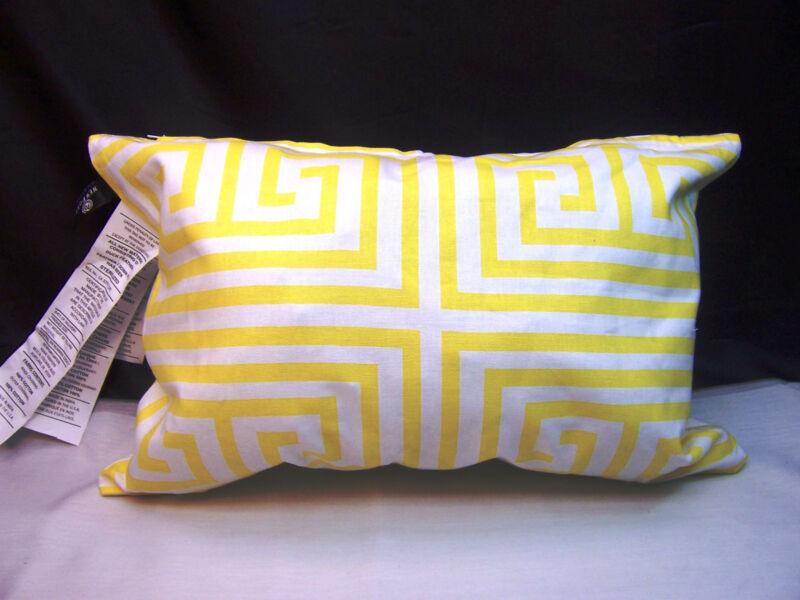 PAIR* Newport Layton Home Fashions Maze Pillow Slip Case - Zipper Closure Yellow