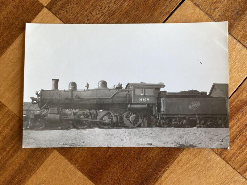 Chicago North Western Railroad Locomotive 868 Vintage Photo C&NW