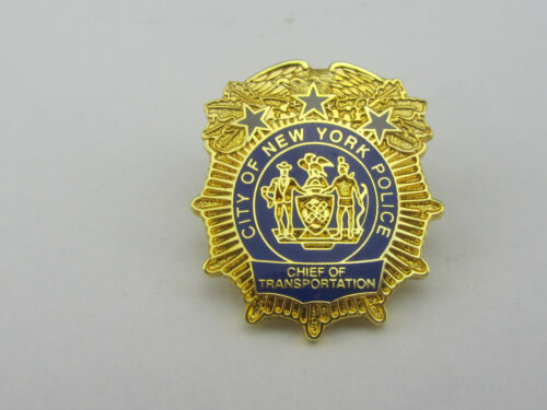 City of New York Police Chief of Transportation Mini Badge Shield Pin