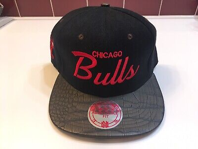 Mitchell Ness NBA Chicago Bulls Script Retro Snapback Hat Cap Jordan Windy City