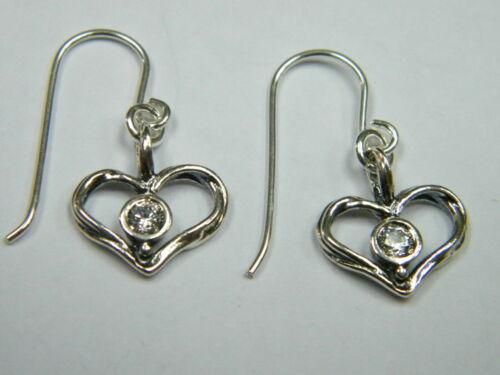 Elegant Shablool Sterling Silver Earrings White White CZ Dangle Style  Women 925