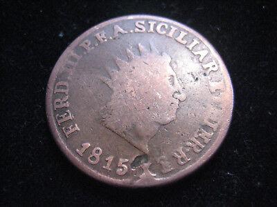 "MDS ITALIEN SIZILIEN 10 GRANI 1815 ""FERDINANDO III."""