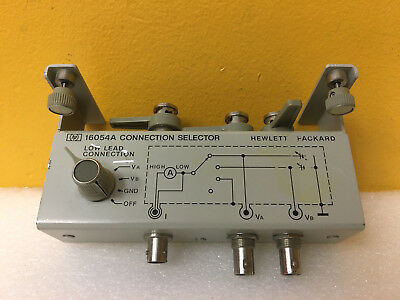 Hp Agilent 16054a Bnc Inputs-outputs Connection Selector For 4140b