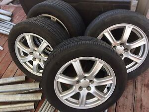 4  summer tires with mag 205/55/16. 5x114.3