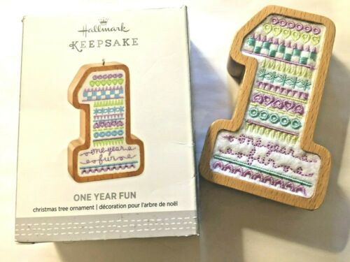 Hallmark Keepsake Ornament One Year Fun Wood and Fabric by Tammy Haddix