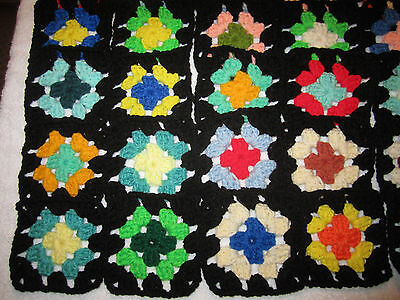 "30-4"" GRANNY SQUARES BLOCKS 4 AFGHAN, AFGHANS *ASSORTED"
