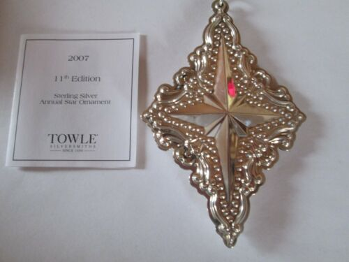 Towle Annual Sterling Star Ornament 2007 - 11th Edition