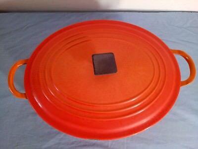 Le Creuset Cast Iron Casserole Dish Volcanic Orange Oval Size E 29/23 cm