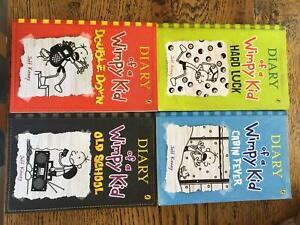 DIARY WIMPY KID 4 BOOKS DOUBLE DOWN OLD SCHOOL HARD LUCK CABIN FE
