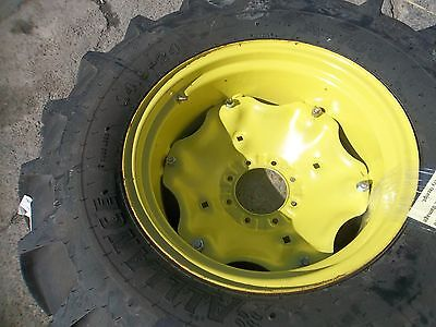 Two 14.9x24  Two 7x16 1050 John Deere Tractor Tires Wall On Wheels