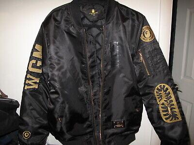 Bathing Ape BAPE Chris Brown collaboration NYLON (not leather) bomber jacket
