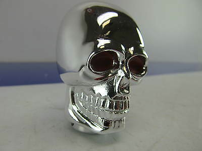 - CHROME METAL  SKULL Shift Knob For Datsun Nissan Toyota Honda Kia Hyundia Mazda