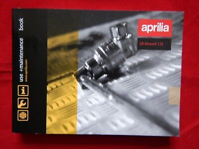 APRILIA SR MOTARD 125 OWNERS MANUAL HANDBOOK RIDERS BOOK 2012 2013