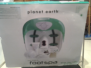 Foot spa BRAND NEW IN BOX planet earth brand Unused gift $50 Normanhurst Hornsby Area Preview