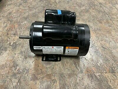 56283138 Ir Motor 5 Hp Air Compressor Electric Motor Capacitor Startrun 24.9amp