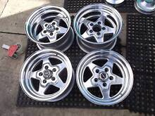 DRAGWAY PROSTAR 14X7&14X8 WHEEL SET SUIT FORD CHRYSLER. Edwardstown Marion Area Preview