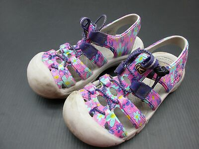 KEEN SIZE 2 GIRLS PURPLE RUBBER ANATOMIC FOOTBED STRAPPY CLOSED-TOE SANDALS 3B