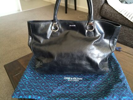 BLACK LEATHER TOTE IMMACULATE   Gladesville Ryde Area Preview