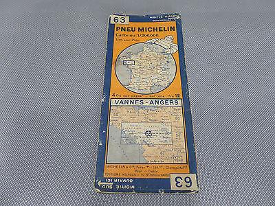 Card Michelin 63 Valves-Angers 1932/Collector Bibendum Vintage
