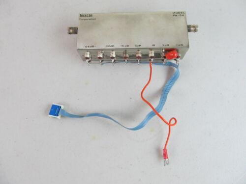 Texscan PA-54 Step Attenuator Module Ham Radio RF Lab