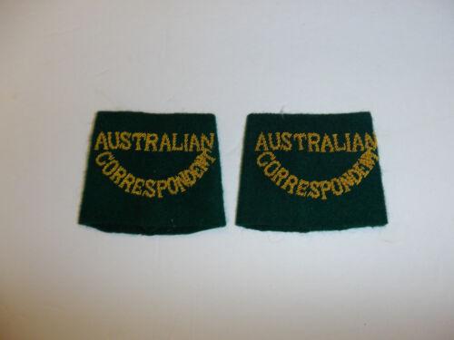 c0389p WW 2  Australian Correspondent Shoulder Tab slip on pair R10E