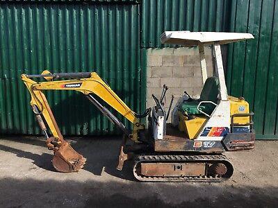 Yanmar B17-1 Mini Digger Excavator - Rubber Tracks
