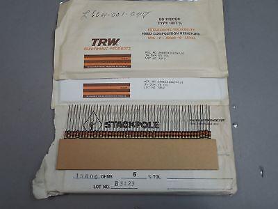 Mixed Lot Of 350 Trw 12 Watt Carbon Comp Resistors 24 13000 Ohm