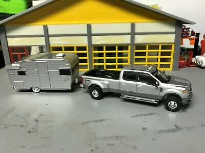 Used, 1/64 2019 Ford F350 Crew Cab Dully P.U./Silver//Towing a 15' Shasta Camper Tlr. for sale  Pawtucket