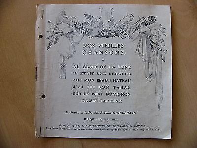 Nos vielles chansons - Pierre Gillermin - les flots bleus 1956