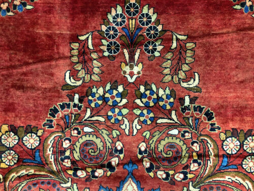 10x13 RED ANTIQUE RUG HAND KNOTTED WOOL oriental vintage handmade carpet 10x14