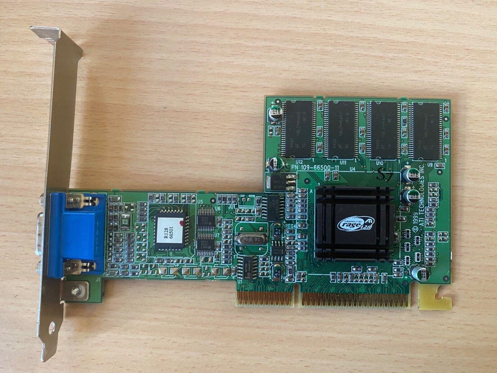 AGP Grafikkarte PN 109-52100-01, ATI Rage 128 VR, 32 MB SDRAM, VGA, gebraucht