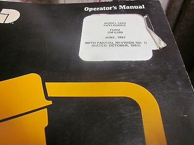 International 520b Pay Loader Operators Manual