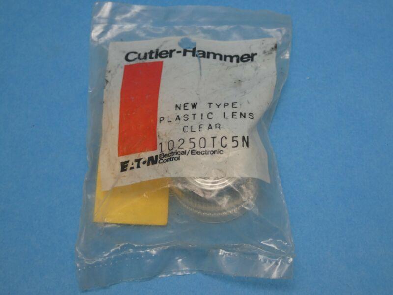 Cutler Hammer 10250TC5N Pilot Light Push Button Lens Clear Plastic New