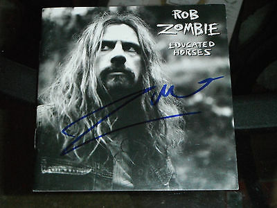 ROB ZOMBIE SIGNED EDUCATED HORSES CD COVER