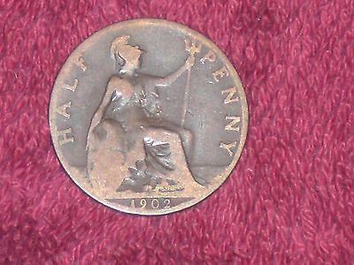 1902 half penny, Edward VII, collectable/filler grade.