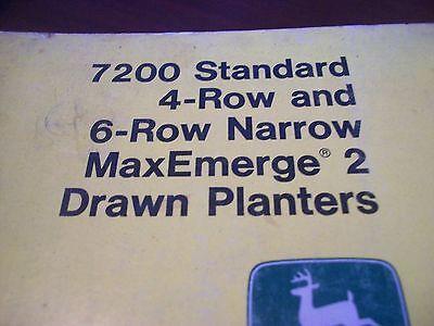 John Deere Operators Manual 7200 Std 4row 6row Maxemerge 2 Drawn Planters