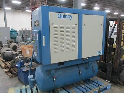 Quincy Compressor Quincy-15 15hp 200psig 480v 19a 3ph 60hz Used