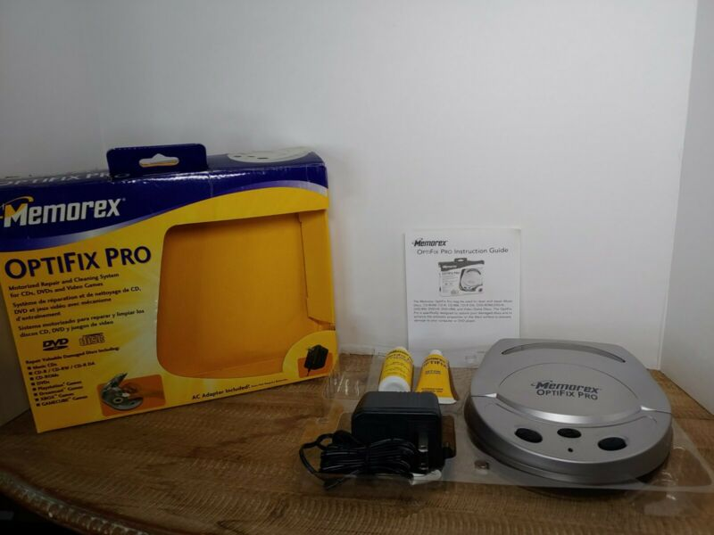 Memorex OptiFix Pro Motorized CD/DVD Scratch Repair Kit for CD DVD