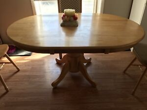 Solid oak table & 4 chairs for sale